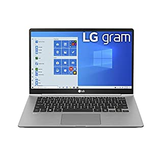 "LG Gram Laptop - 14"" Full HD IPS, Intel 10th Gen Core i5 (10210U CPU), 8GB DDR4 2666MHz RAM, 512GB NVMeTM SSD, Up to 22.5 Hours Battery, Intel UHD Graphics - 14Z995-U.ARS6U1 (2020) (B086Z1XHYN) 