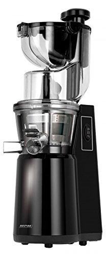 MPM MSO-16 Licuadora prensado en frío para Verduras y Frutas, Baja Velocidad 60RPM, Slow Juicer, 2 tamaños de Malla función inversa, 200W, 200 W, 1 Liter, Negro