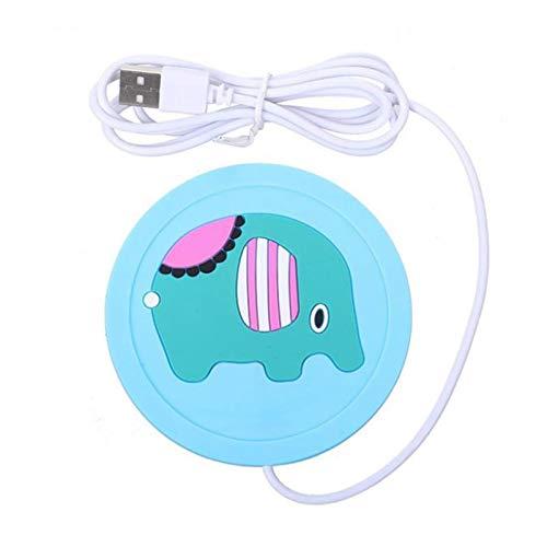 REWD Coaster de Chauffage éLectrique Anti-Chaleur USB Silicone Chaleur Chaud Cartoon Silicone électrique Isolation Coaster Thé Chaud Gadgets Meilleur Cadeau