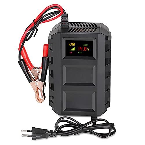 Chargeur de Batterie pour moto Voiture 12V 20A,Mainteneur de Batterie Intelligent avec Technologie de réparation par impulsion,ECRAN LCD, Tension 110~240V,capacite 10AH-250AH