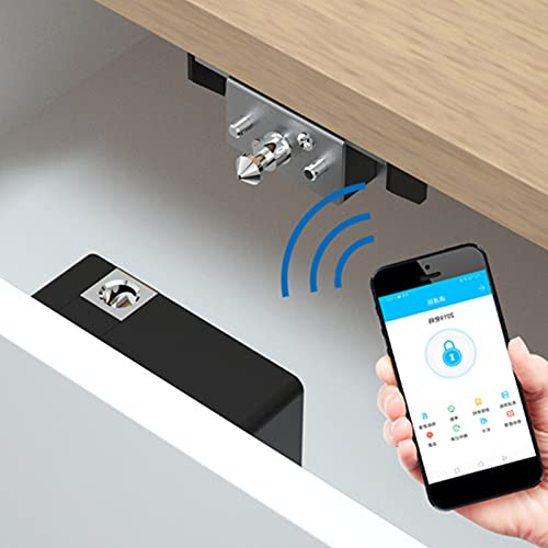 Blutooth Drawer Lock, Practical and Convenient Dark Lock Cabinet Lock for Home Security Systems
