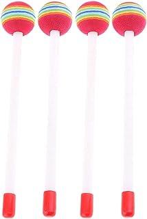 shamjina 2 Pairs of Drumstick Lollipop Drumsticks Drumsticks with Sponge Head,