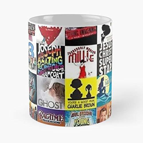 92Wear Musicals Broadway Lion King The Musical Elf Rent Matilda Theatre Les Mis Miserables Best 11 oz Taza De Café - Taza De Motivos De Café