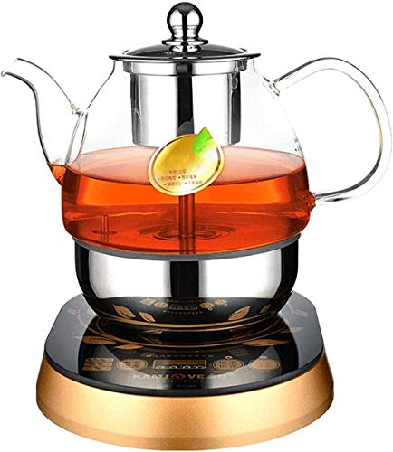 Household All Automatic Coffee Machine Portable Large Capacity Glass Electric Tea Kettle Intelligent Heat Preservation Tea Maker