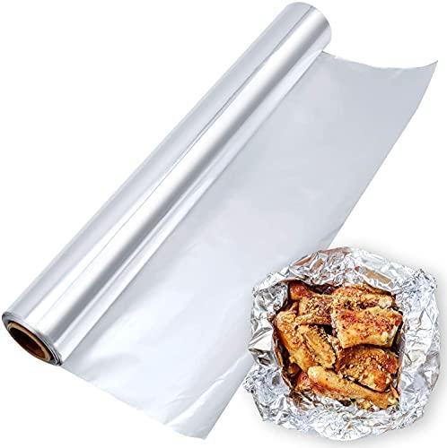 Depory Papel de Aluminio Cocina Papel de Aluminio Rollo de para Barbacoa, con Caja Dispensador Mantenga la comida jugosa y sabrosa mientras cocina