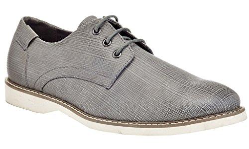Franco Vanucci Mens Textured Casual Oxford Dress Shoes