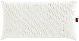 Abitti Almohada Gold Ceramic viscoelástica 90cm con termoregulable Funda de Hilo cerámico, firmeza Media, Transpirable, visco y antiestrés (certificada)