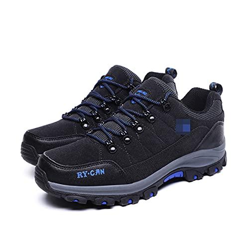 WANGT Zapatos De Senderismo para Hombre, Zapatos Impermeables para Caminar, Botas para Caminar para Hombres, Zapatos con Agarre Añadido, Suela De Goma De Tiro Bajo,Gris,44