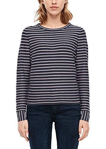 s.Oliver Damen 14.909.61.6228 Pullover, Blau (Navy Stripes 59G0), (Herstellergröße:36)