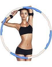 GUBOOM Hoelahoep, hoelahoep, fitnessbanden voor volwassenen en kinderen, voor gewichtsverlies en massage, 6-8-delige afneembare hoelahoep voor training, kantoor of buikspiercontouren