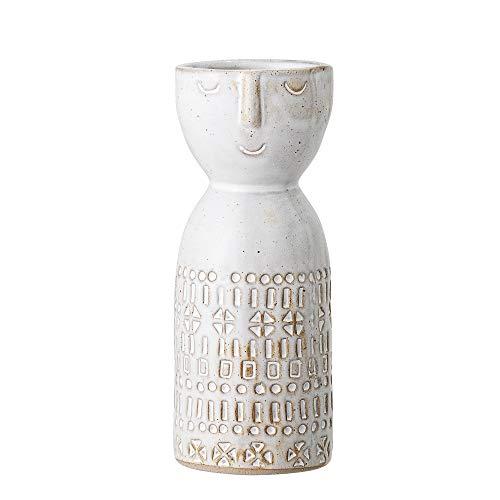 Bloomingville Vase, weiß, Keramik
