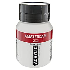 Rich, lightfast color For use on paper, board, canvas, wood, and stone Made in Holland from carefully selected pigments Clean up requires only water and soap 500ml Titanium White