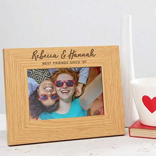 Bilderrahmen beste Freundin, 10x15 cm oder größer, Beste Freundin Geschenke, personalisiertes Geschenk