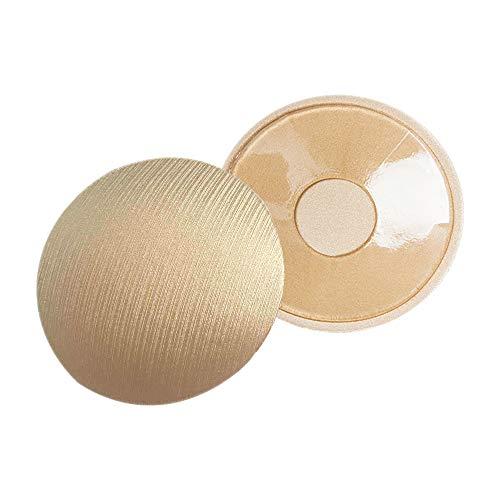 ZEVONDA Pezoneras Adhesivas para Mujer - Cubierta de Pezón Invisibles de Silicona Empaques de Pegatinas Autoadhesivo Lavables y Reutilizables, Forma de Redonda