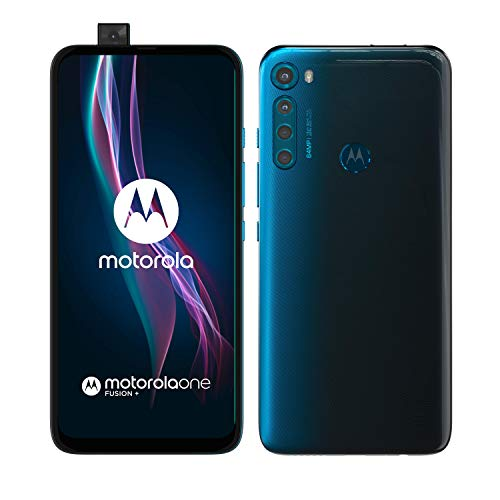 "Motorola moto one fusion plus (Quad camera 64 MP, batteria 5000 mAH, Display Total Vision FHD+ 6.5"", Qualcomm Snapdragon 730, Dual SIM, 6/128 GB, Android 10), Twilight Blue"