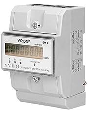 Virone EM-3 digital växelströmsmätare trefas energimätare, 80A, 3 moduler, DIN TH-35 mm