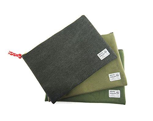 Rough Enough Canvas File Folder Organizer Letter Size Document Bag Case Pouch Paper Notebook Envelopes Magazine with Zipper for Filing Laptop Accessories Office School Supplies Exam Car Photo #4