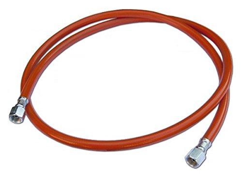 Tuyau de gaz propane - 0,8 m à 2 m - Gauche - 2 x 6,35 mm - Pour le camping 150cm