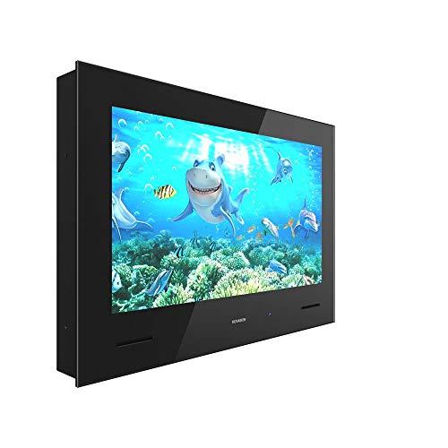 KUVASION KVS315 Premium 32 Inch Waterproof Bathroom TV, 32 Inch Full HD Freeview Waterproof TV, 32 Inch Smart Bathroom Waterproof TV for Bathroom, Black