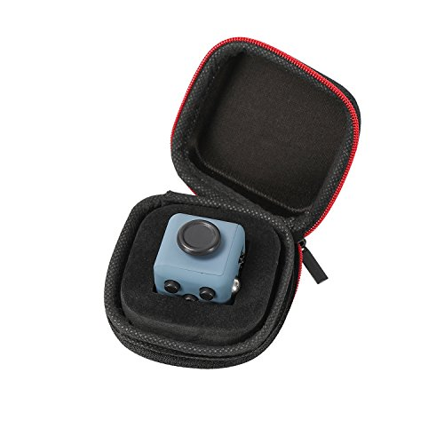 Fidget Cube mit Hülle Schreibtisch-Spielzeug Klicker Joystick-Tasten zum Stressabbau, bei Angst, zum Konzentrieren ADHD Autismus Erwachsene Kinder Studenten Büro Geschenk, 6?Navy Blue