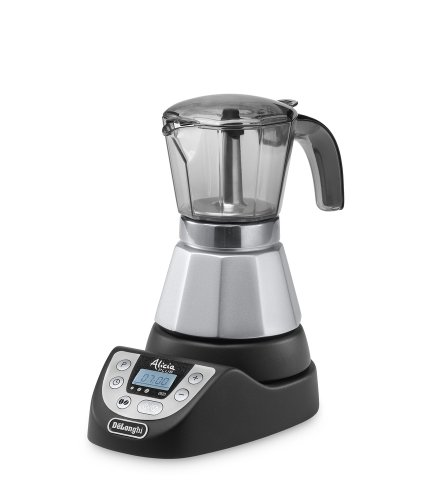 De\'Longhi Alicia PLUS EMKP 42.B Caffettiera Moka Elettrica 2-4 Tazze, 450 W, Grigio/Nero