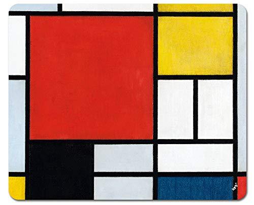 1art1 Piet Mondrian Tapis De Souris - Composition avec Grand Plan Rouge, 1921 (23 x 19 cm)