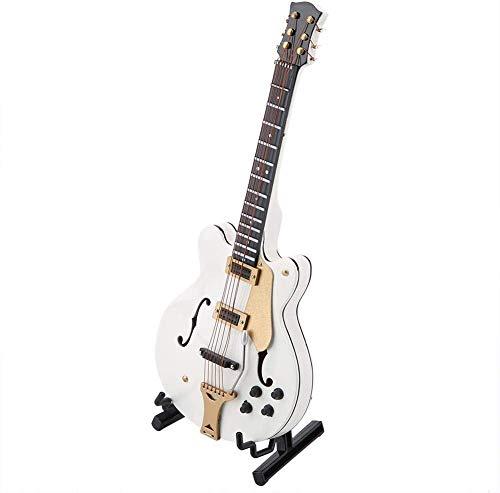 Modell der Gitarre, 5,5 Zoll, Modell E-Gitarre in Miniatur, Weiß, Instrumente, Bastelzubehör, Dekoration, Geschenk, Büro, Zuhause, dekorative Ornament