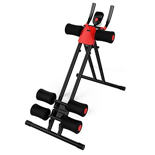 Nisorpa Adjustable Ab Workout Machine Abdominal Trainer Foldable Whole Body Shaper Home Gym Core Toner Strength Training Equipment Waist Cruncher Leg Thigh Side Shaper Fitness Device LCD Counter