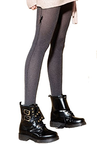 Gatta ondoorzichtige panty met patroon 60den (85R-03) - panty met diermotief grijs - ontworpen & Made in EU