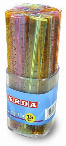Arda Righelli 15Cm Colori Assortiti-Barattolo da 50 Pezzi Disegno Tecnico, Multicolore, 8003438002822