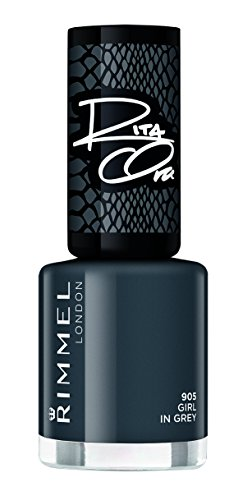 Rimmel London Super, Nagellack, dunkelgrauer Glanz, 8 ml