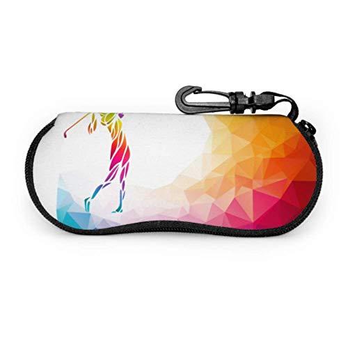 JEOLVP Silhouette frau golf player eps 10 sonnenbrille case für kinder case für brille licht tragbare neopren reißverschluss soft case männer s brillenetui