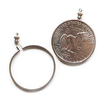 Dollar USA $1 Coin Eisenhower $ Holder Bezel ~ for charm necklace pendant display  Pack of 2