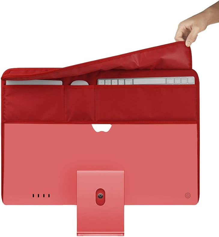 Protect Dust Cover for 24 Inch iMac, iMac Display Apple All-in-one Computer Screen Protector (Red)