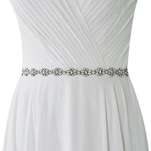 TOPQUEEN Hochzeits-Gürtel-Hochzeits-Schärpe-Brautgurt-Brautschärpe für Hochzeits-Diamant (Schwarz)