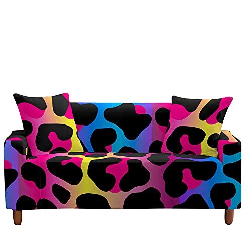 Surwin Funda de Sofá Elástica para Sofá de 1 2 3 4 plazas, Impresión Universal Antideslizante Cubierta de Sofá Cubre Cover Moda Sofá Funda Furniture Protector (Vistoso,2 plazas - 145-185cm)