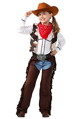 Kid's Cowgirl Chaps Costume Girl's Cowgirl Outfit Large