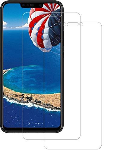 DOSMUNG 2 Pezzi Vetro Temperato per Huawei P Smart Plus, Pellicola Vetro per Huawei P Smart Plus Anti-Olio/Facile da Installare/Senza Bolle/3D Touch/9H Durezza Huawei P Smart Plus Pellicola Protettiva
