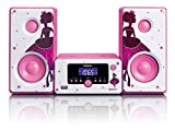 Lenco MC-020 Micro Set Alarm Clock Bluetooth FM rad USB aux-in - Princesse