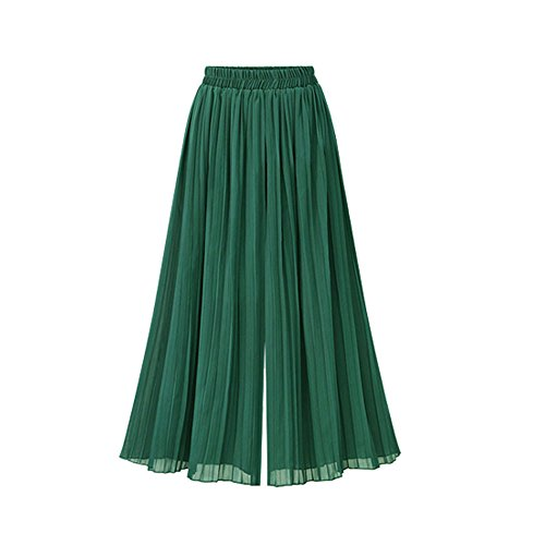 Neueste LEEDY Damen Plus Size Chiffon Culottes Pluderhosen Hose Mit Weitem Bein Casual Übergröße Hosen Mode Elegant Wunderschön Streetwear