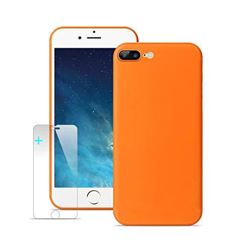 Lead Tech Cover iPhone 7 Plus, Cover iPhone 8 Plus, Custodia iPhone 7 Plus Delicato Stile Minimalista [Ultra Sottile e Ultraleggero Completamente Circondato] con Schermo in Vetro Temperato.