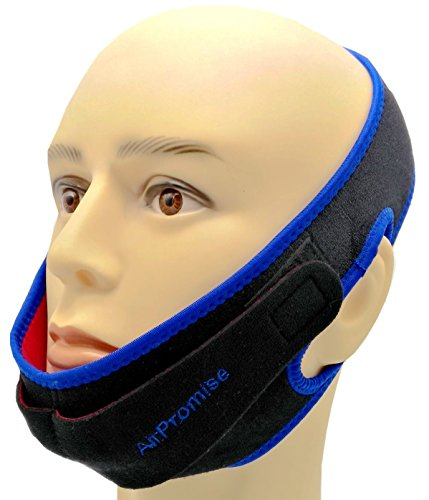 Snoring Reduction Solution Chin Strap With Double Adjustable Connector for Better Sleep (Double Blue)