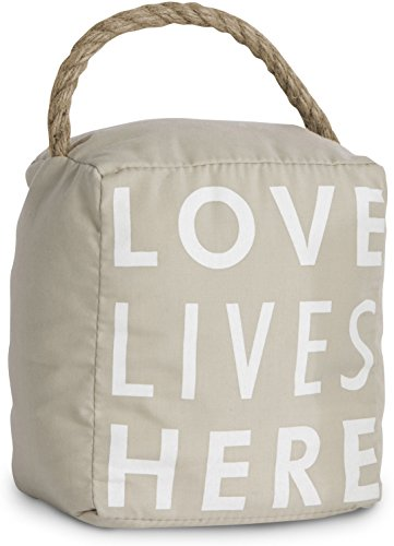 Pavilion Gift Company 72153 Love Lives Here Door Stopper, 5 by 6-Inch