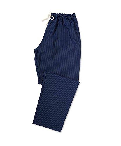 Toray STC-AM36SN-MS antimikrobielle Scrub Hose, kurz, gestreift, 98% Polyester/2% X-STATIC, Größe: M, Sailor Navy/Silver