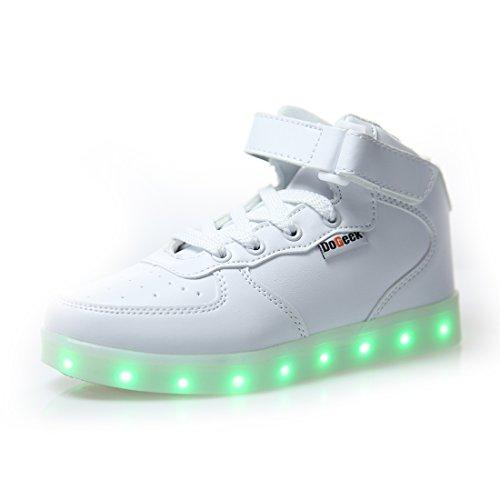 DoGeek Unisex Adulto Scarpe LED Luminosi Sneakers con Le Luci Accendono Scarpe Sportive
