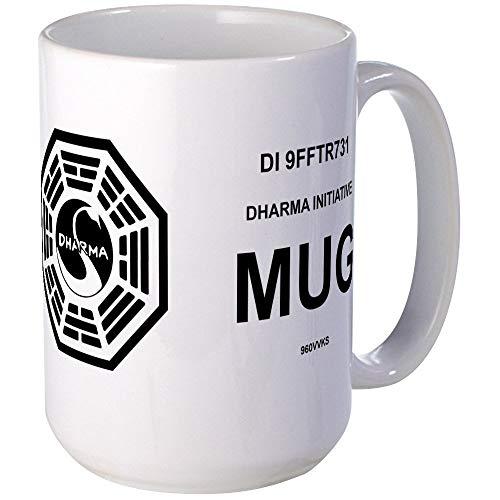 N\A Dharma Initiative - Taza Grande de café, tamaño Grande de 11 oz. Taza de café con Leche
