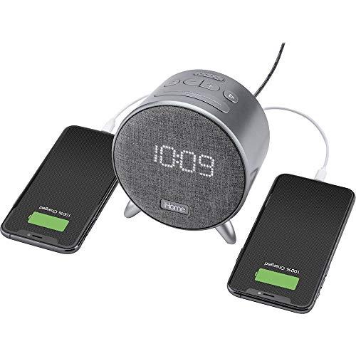 IHOME IBT235 Bluetooth Wecker Design, hell, kompakt, mit doppelter USB-Ladefunktion
