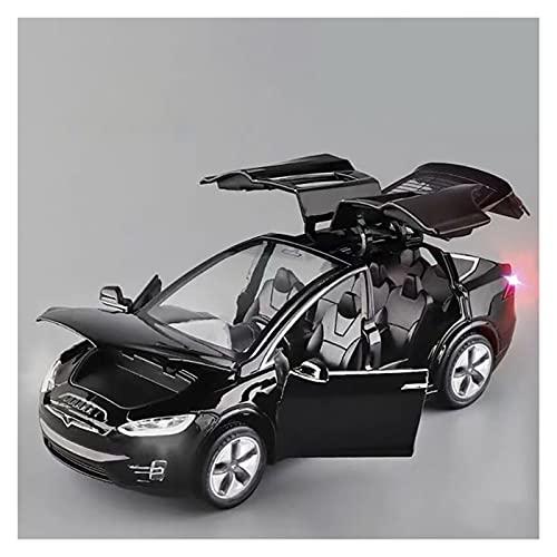 Kits Juguetes Modelos Coches De Moda para Tesla X90 1:32 Simulación De Aleación De Fundición A Presión Sonido Y Luz Modelo De Carreras Colección De Regalo De Juguete Expresión De Amor