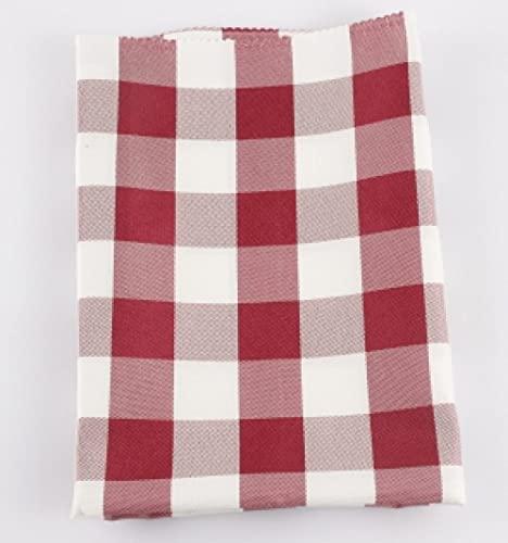 XQSSB Moderno Mantel Rectangular Cocina Respirable Lavable Manteles Resistente Al Desgaste Rojo Oscuro 160 × 180cm