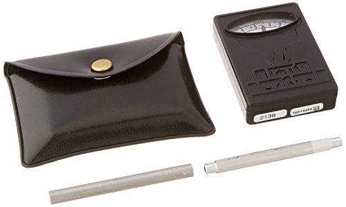Bacharach 0013-3000 Draftrite Pocket Gauge with Two Sections of Draft Tube and Leatherette Case, 0.10 to 0 to -0.14